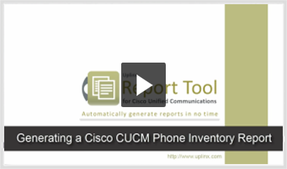 Video - generate phone inventory report for Cisco phones