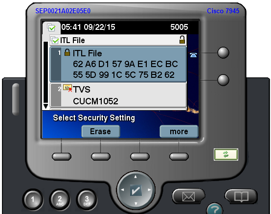 Updating ctl cisco phone