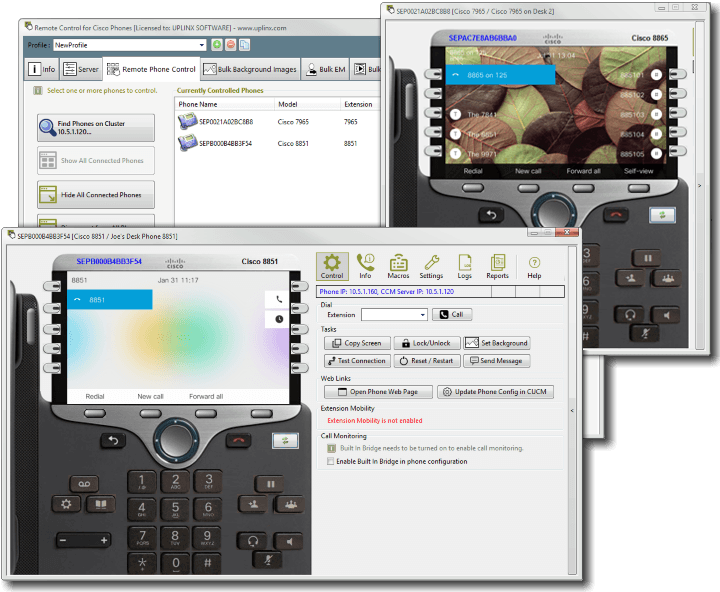 Remote Control for Cisco Phones – Uplinx Software
