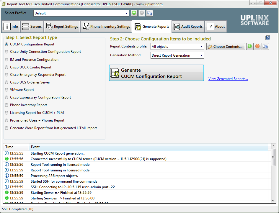 report-tool-cisco-screenshot-generate-report