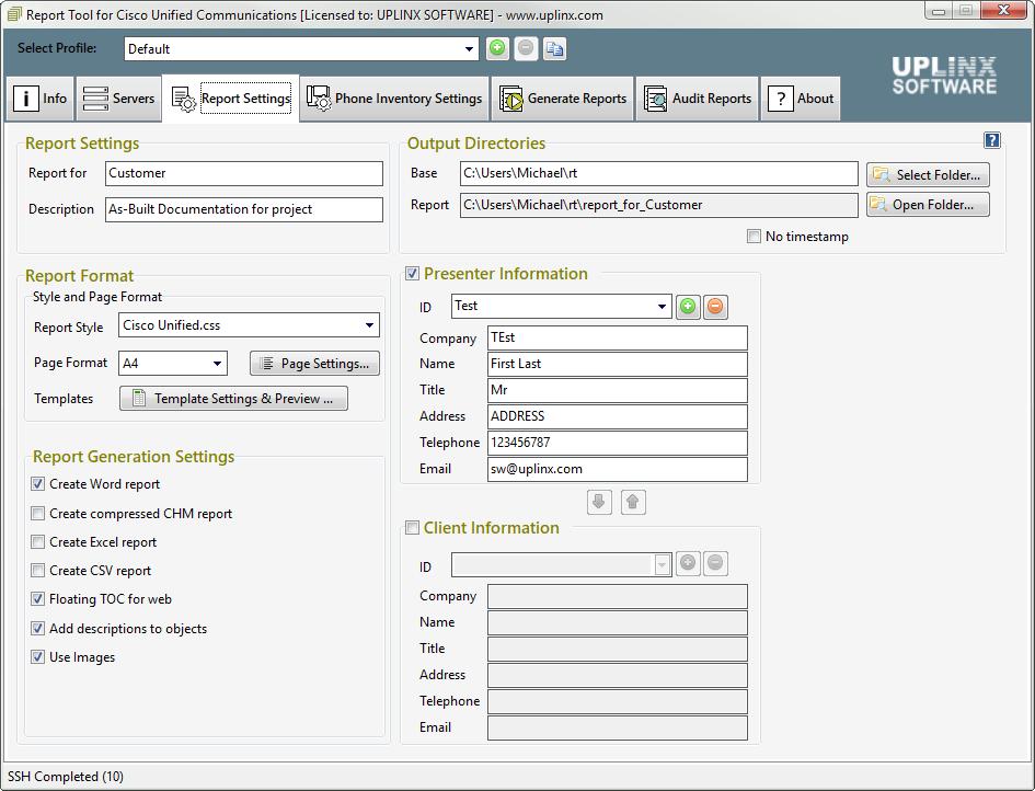 report-tool-cisco-screenshot-settings